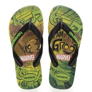 NWT Havaianas Guardians of Galaxy Groot Sandals